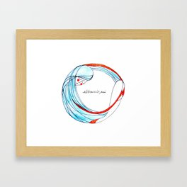 AbbraccioMi // Hugging Myself Framed Art Print