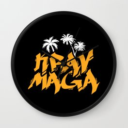 Krav Maga Martial Arts Israeli Fighter Wall Clock