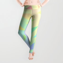 Pastel Gradient Design with Pastel Ombre Triangles! Leggings