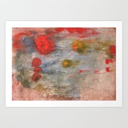 Rosy brown clouded wash painting Art Print