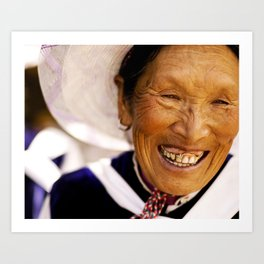 Happy Grandma_Smiling Face Art Print