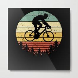 Cyclist Bike Racing Bike Vintage Gift Idea Metal Print