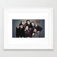 snl Framed Art Prints featuring One Direction - SNL w/ Paul Rudd by Amara V