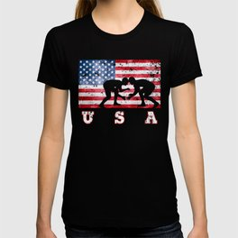 Team USA Wrestling on Olympic Games T-shirt