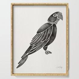Perched Parrot – Black Palette Serving Tray