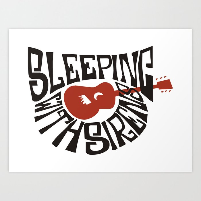 Sleeping With Sirens Art Print By Angkus Society6