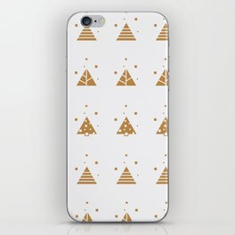 Abstract Trees Winter Pattern White iPhone Skin