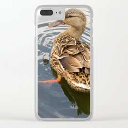 Ducky Clear iPhone Case