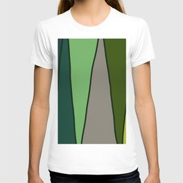 Green Abstract Pattern Turtle T-shirt