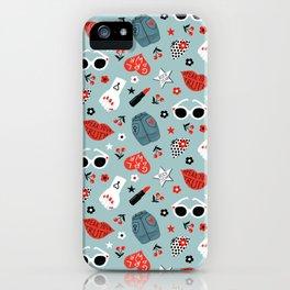 Rockabilly woman iPhone Case