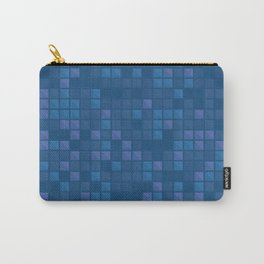 november blue geometric pattern Carry-All Pouch