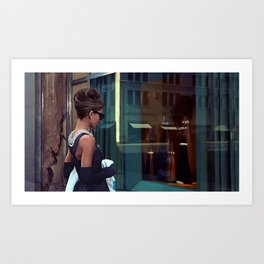 Audrey Hepburn #2 @ Breakfast at Tiffany's Art Print