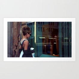Audrey Hepburn #2 @ Breakfast at Tiffany's Art Print