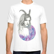 Zodiac - Capricorn MEDIUM Mens Fitted Tee White