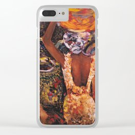 Three Women with Baskets Clear iPhone Case