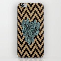 Burlap & FLowers iPhone & iPod Skin