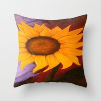sister Throw Pillows featuring Sister by Jessica Nicole Pacheco