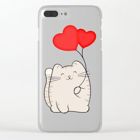 Eli, the love cat Clear iPhone Case