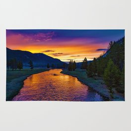 Sundown At Yellowstone Rug