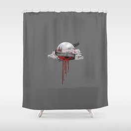 UNDER THE BLOOD MOON Shower Curtain