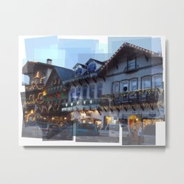 Leavenworth Lights Metal Print