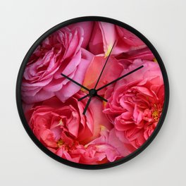 English Rose Collection Wall Clock