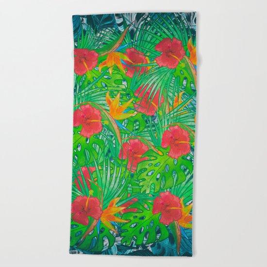 Tropical Rainforest Beach Towel