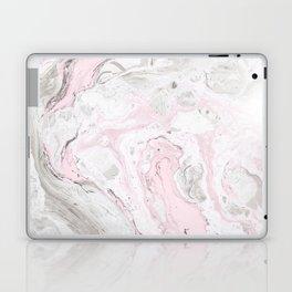 Peaceful Pink Gold & Gray Marble Print Laptop & iPad Skin