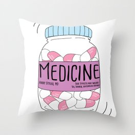 "Harry ""Medicine"" Styles Throw Pillow"