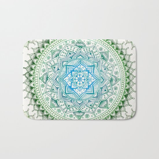 Forest Colours Flower Mandala Bath Mat
