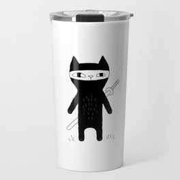 Ninja Cat Travel Mug