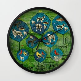 3D ZOO ALT. 1 - NEBULAE IN GRASS Wall Clock