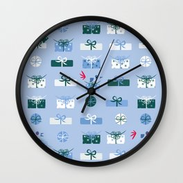 Giftmas - Blue Wall Clock