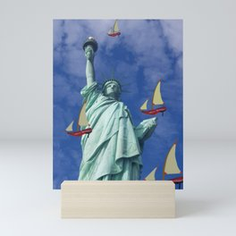 Racing to Freedom with May - shoes stories Mini Art Print