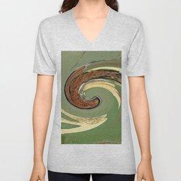 Swirl 05 - Colors of Rust / RostArt Unisex V-Neck