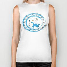 bird and dinosaur Charms Biker Tank
