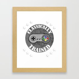Classically Trained Retro 4 Button Video Game Shirt Framed Art Print