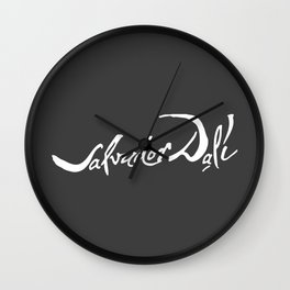 Salvador Dali Signature, Artwork for Wall Art, Prints, Posters, Tshirts, Men, Women, Kids Wall Clock