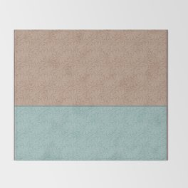 Combo beige turquoise abstract pattern . Throw Blanket