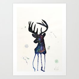 Spirit Nebula Stag Art Print