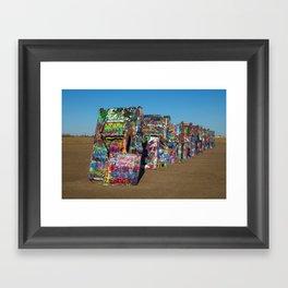 Cadillac Henge Framed Art Print