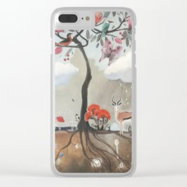 After Noon Tree Clear iPhone Case