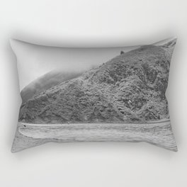 Lake Black and white Rectangular Pillow