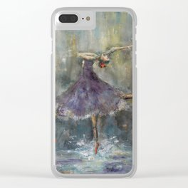 Dancing in the rain Clear iPhone Case