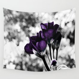 Purple Flowers Pop Of Color Wall Tapestry
