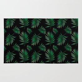 tropical palm leaves Rug