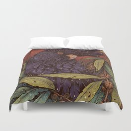 Black Cockatoo Duvet Cover