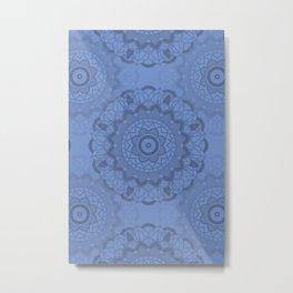 Mandala-Yoga-Blue Metal Print