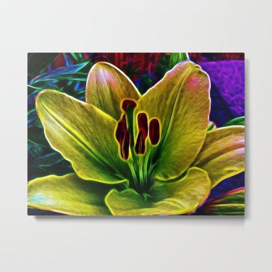 BrightYellow Lily Metal Print