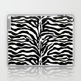 Wild Animal Print, Zebra in Black and White Laptop & iPad Skin